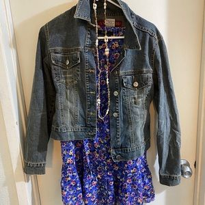 Jean jacket and cover up dress